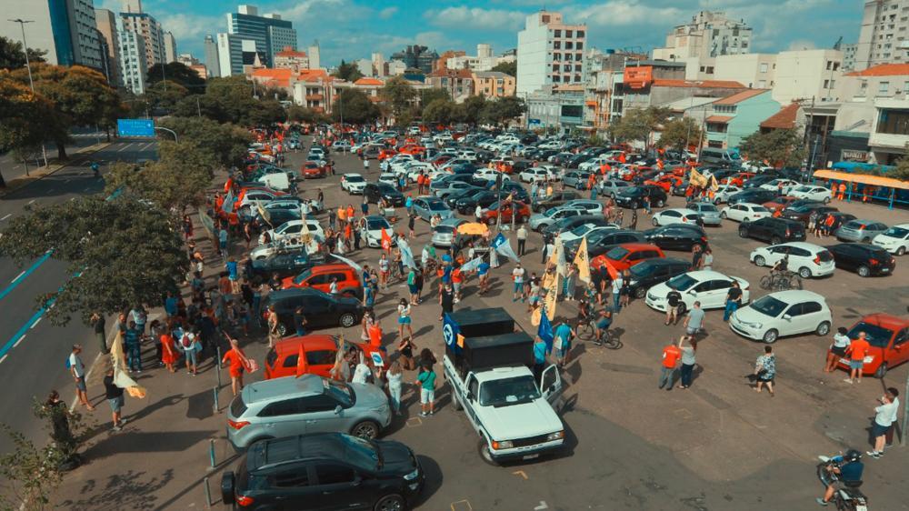 Sintrajufe/RS participa de ato e carreta pelo fim do governo Bolsonaro; nova mobilização está marcada para o dia 29