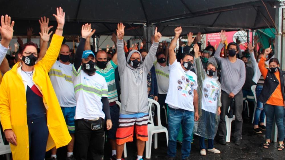 Sintrajufe/RS manifesta apoio à luta dos trabalhadores e trabalhadoras da empresa de limpeza pública e exige apuração de atentado à casa de sindicalista